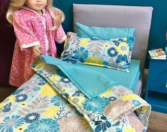 INVENTORY SALE! The Alice - Beautiful upholstered bed for 18 inch dolls!