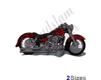 Cruiser Motorcycle - Machine Embroidery Design