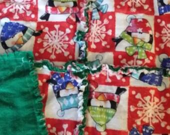 Christmas Rag Throw