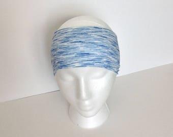Blue headband stripe headband women's headband active lifestÿle headband non slip headband