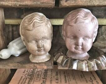 Vintage brocante dollshead shabby chic decoration