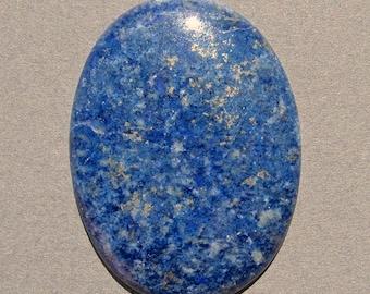 Blue Lapis Lazuli with Pyrite Cabochon-52 Cts.  40mm L X 30mm W