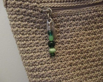 Green Beaded Keychain