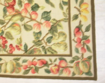 "NEW Rectangular Victorian Hand stitched Needlepoint Rug 36"" w x 60"" l"