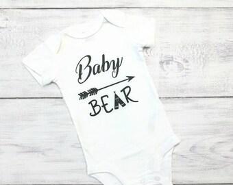 Baby Bear Tribal Arrow Teepee Onesie Bodysuit Shirt Boy Girl Black White