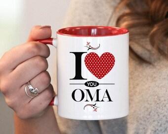 I Love You Oma , Oma Gift, Oma Birthday, Oma Mug, Oma Gift Idea, Baby Shower, Mothers Day