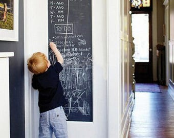 Vinyl Chalkboard, Blackboard, Adhesive, Sticker, Schoolhouse, Wall Decal, Removeable, Wall Decor