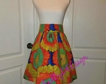 Ankara skirt, Mini skirt, Ankara fabric, African fabric, African mini skirt, African skirt, African print skirt, handmade skirt, wax fabric
