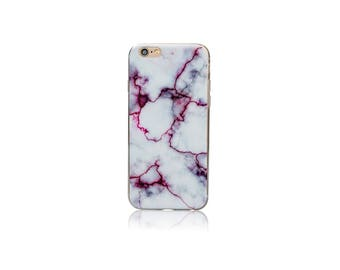 Pink Marble Pattern Thin Gel Silicone Cover Case for iPhone 7, 7 Plus, 6, 6S, 6 Plus, 6S Plus, SE, 5, 5S