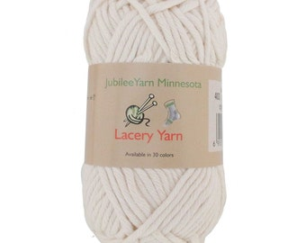 Lacery Yarn 100g - 2 Skeins - 100% Cotton - MoonBeam- Color 403