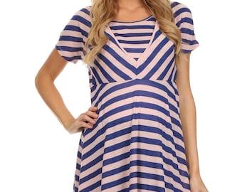 Abby Stripe Tunic Style Nursing Top