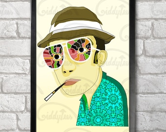 Hunter S. Thompson Poster Print A3+ 13 x 19 in - 33 x 48 cm  Buy 2 get 1 FREE