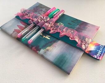 Bookmark, Diary Tidy, Pen holder - Aqua Pink Fizz