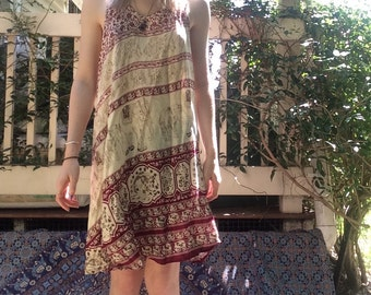 Elephant Print Cotton Dress