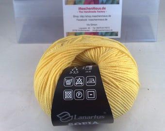 Sofia 50 g skein from Lanartus yellow - yellow Sofia by Lanartus