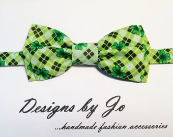 Mens Bow Tie,Green Bow Tie, Formal Bow Tie, Mens Bowtie,Prom Bow Tie,Wedding Bow Tie, St Patricks Day Bow Tie, Mens Fashion Accessories M667