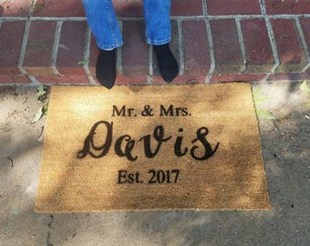 Mr. & Mrs. Established....doormat