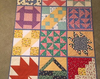 Old-fashioned crib quilt