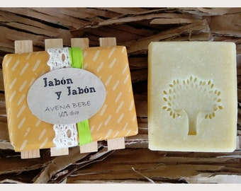 OATMEAL and shea butter SOAP with 60% of Virgin olive oil, baby SOAP, Castile, artisan SOAP, baby soap, savon baby SOAP