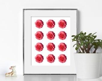 Flower Pop Art Digital Download Printable Art Geometric Art Graphic Design Boho Wall Art Nue Home Decor Noir Classic Design Zen Art Abtract