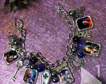 Tim Burton Beetlejuice  charm  Bracelet necklace