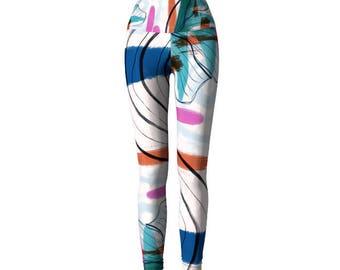 Aerial Leggings, aerialist clothing, hula hoop clothing, printed leggings,  Jogging, Bold Leggings, Abstract, Yoga Leggings, hula hoop