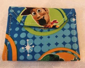 Change wallet, women's wallet, bifold wallet, cotton wallet, handmade wallet, my first wallet, kids wallet, child's wallet,