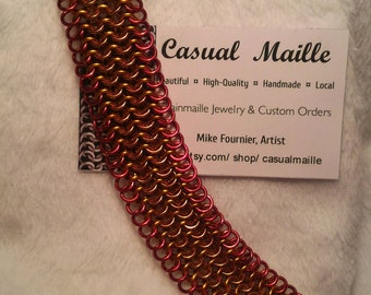 "Bracelet 7""-8"" Chain Maille 7 Rows (European 4-1)"