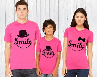 Family matching outfits-Smile