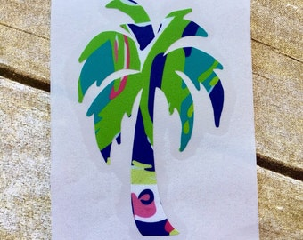 Palm tree decal / Lilly decal / yeti cup decals / yeti sticker / Window decal / car decal / la top decal / Palm tree / Beach decal / Vinyl