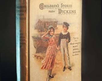 Children's Stories from Dickens 1915  Rare Collectible Book