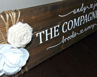 Personalized Family Sign | 6x24 | rustic decor | wood sign | farmhouse | wall decor