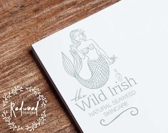 Premade Logo | Logo Design | Nature Logo | Natural Logo | Mermaid Logo | Vintage Logo | Artists Logo | Beautiful Logo | Company Logo