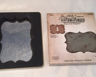 Tim Holtz Alterations * Ornamental Die * Movers and Shapers * BIGZ * Gently Used * Sizzix 656641