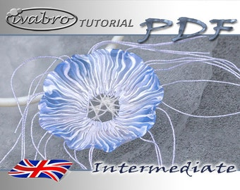 Polymer clay tutorial - Jellyfish flower pendant - English