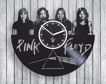 Pink Floyd Vinyl Clock wall decor Gift ideas for fans Handmade unique design fan club rock music   Modern Art decoration