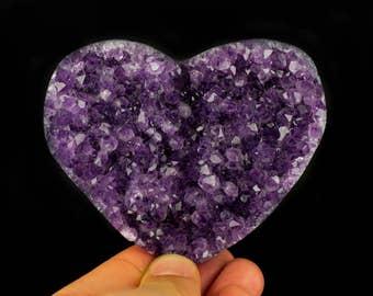 Purple Amethyst Heart