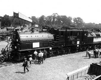 """1924 Largest, Most Powerful Locomotive Vintage Photograph 13"""" x 19"""" Reprint"""
