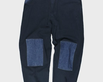 Denim Patched On Trouser