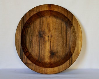 Walnut wood bowl. Moroccan bowl. Fruit bowl. Salad bowl.
