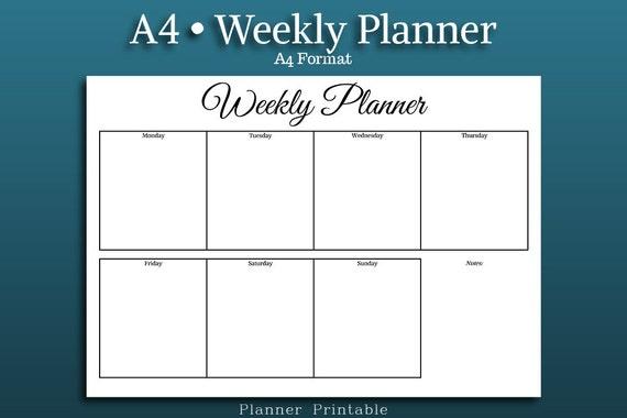 weekly planning calendar template