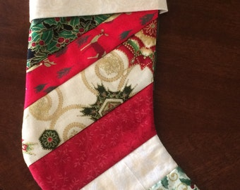 Small quilted Christmas stocking