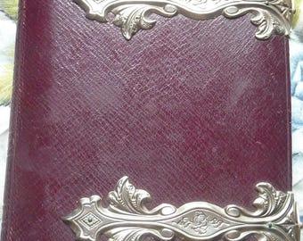 Large Antique Photo Album, 1800s, Vintage Photo Album, Gilded, Printed Card, Collectible Albums