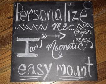 Personalized Magnetic Chalkboard