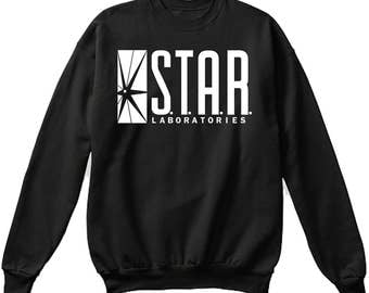 Star Labs Sweatshirt - S.T.A.R. Laboratories Sweater Sweatshirt Pullover - Flash - UNISEX - Ships Fast