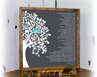 Parents Thank You Gift, Anniversary Gift, How Could We Possibly Thank You, Wedding Gift for Parent, Parent Tree, Canvas Wood Sign