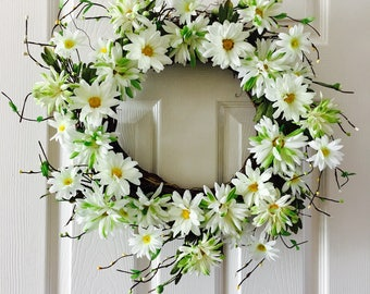 Summer wreath for front door,Spring wreath for front door,Berry flower wreath, Front door wreath, Everyday wreath.