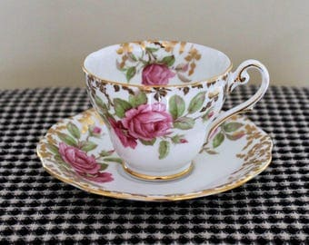 Royal Standard Festival Rose Teacup and Saucer