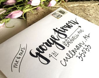 Handwritten Addressed Envelope-Primrose Design
