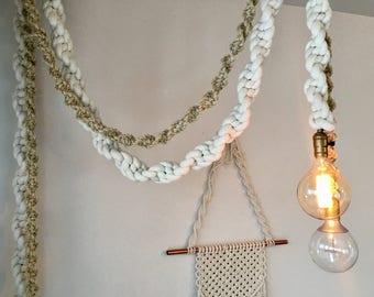 Macrame Hanging Light
